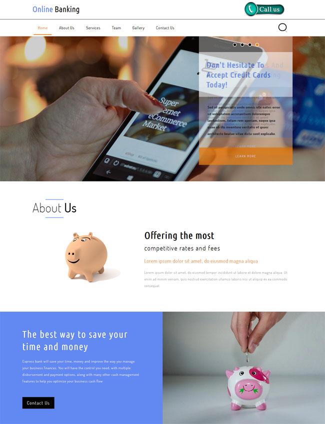 金融综合服务平台html网站模块