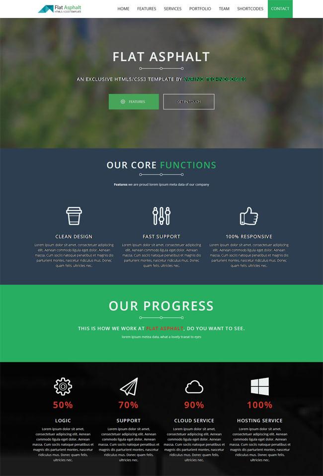 CSS3深色滑动单页html5模块