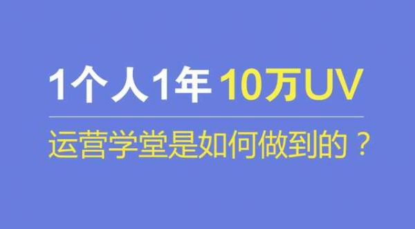 案例:1个人如何通过1年时间打造出10万UV的运营网站?  运营  第1张