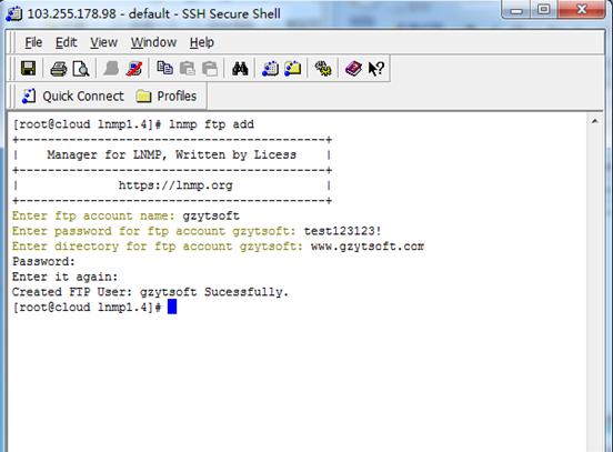 实战linux搭建FTP linux搭建FTP 建站  第4张