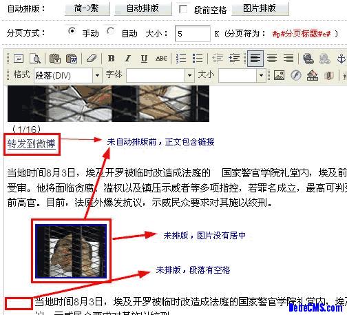 伪原创站必备dedecms正文自动排版插件