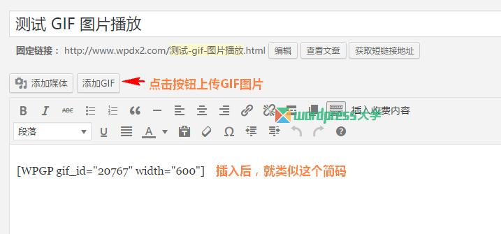 WordPress GIF 图片点击播放 WP GIF Player WordPress基础教程 wordpress教程  第3张