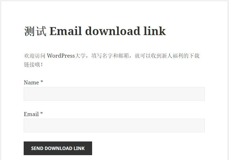 WordPress 填写表单后邮件发送下载链接 Email download link WordPress基础教程 wordpress教程  第1张