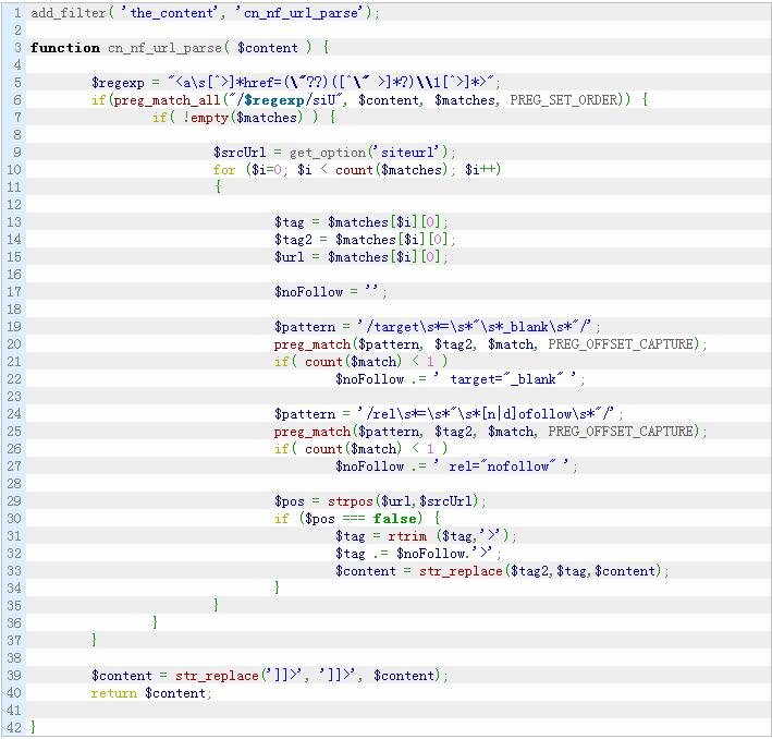 自动添加nofollow属性和新窗口打开WordPress文章/页面的站外链接 WordPress网站seo wordpress教程  第1张