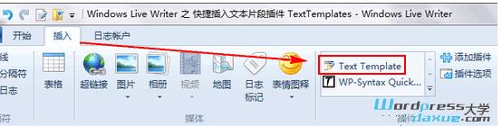 Windows Live Writer 之 快捷插入文本片段插件 TextTemplates WordPress网站维护 wordpress教程  第1张