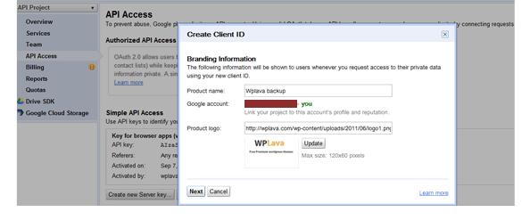 自动备份 WordPress 到 Google drive (Google 云端硬盘) WordPress网站维护 wordpress教程  第3张
