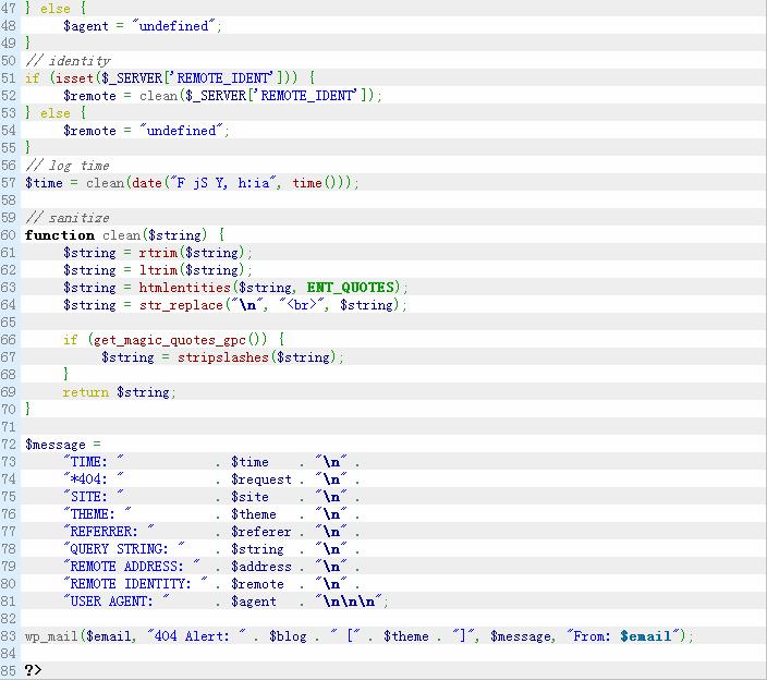 WordPress站点出现404错误时邮件通知管理员 WordPress网站维护 wordpress教程  第2张