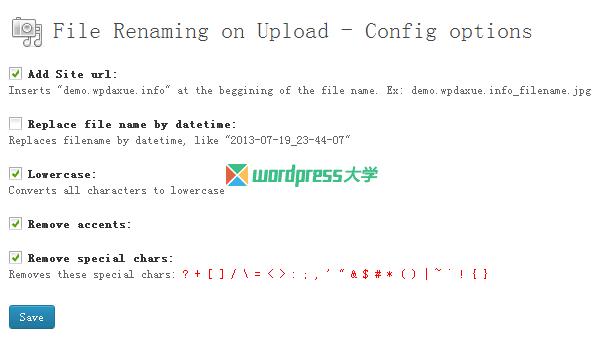 WordPress文件上传时自动重命名插件:File Renaming on upload WordPress网站维护 wordpress教程  第1张