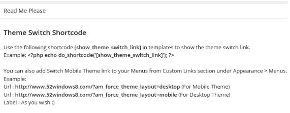 """让移动主题显示切换到""""桌面版(电脑版)""""链接(Any Mobile Theme Switcher) WordPress网站维护 wordpress教程  第2张"""