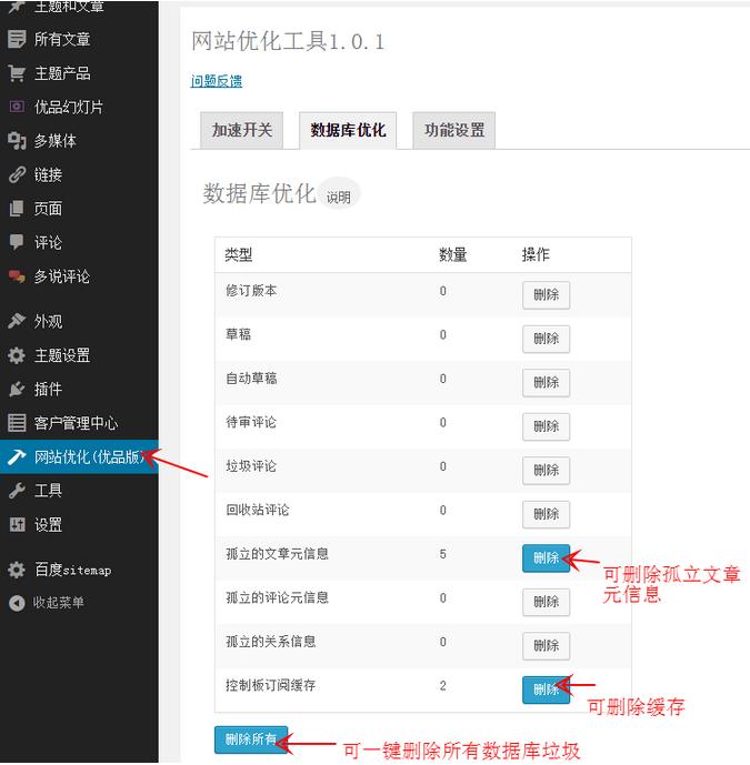 WordPress网站优化插件youpzt optimizer,给网站提速70% WordPress网站维护 wordpress教程  第2张