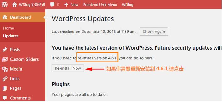 使用 WP Downgrade 在线降级 WordPress 到旧版本 WordPress网站维护 wordpress教程  第3张