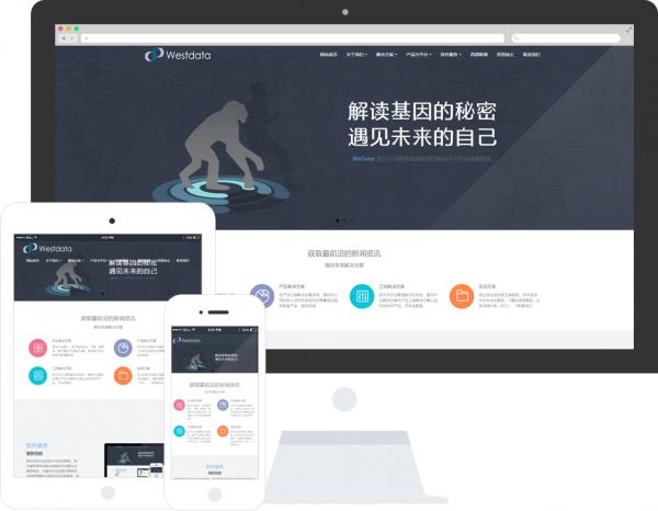 米拓模板:软件信息公司网站模板推荐 米拓模板 建站  第3张